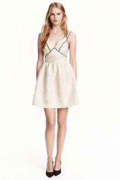 27008150de94 Vestido em tecido jacquard - Branco cru - SENHORA
