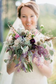 Whimsical and rustic bouquet: http://www.stylemepretty.com/south-dakota-weddings/2015/02/24/rustic-south-dakota-state-park-wedding/ | Photography: Jeff Sampson - http://jeffreysampson.com/
