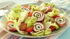 Eisbergsalat+mit+Schinken-Mozzarella-Röllchen+Rezept+»+Knorr
