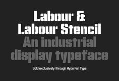 Labour typeface on Behance