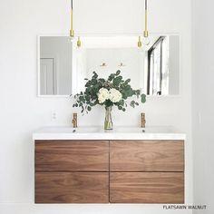 GODMORGON: custom doors for ikea cabinets...this is flat sawn walnut