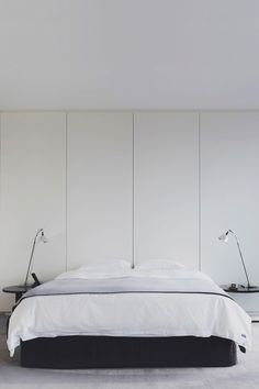 Here we showcase a a collection of perfectly minimal interior design examples for you to use as inspiration.Check out the previous post in the series: 20 Interior Design Examples, Interior Design Inspiration, Design Ideas, Serene Bedroom, Modern Bedroom, Minimalist Interior, Minimalist Bedroom, Living Spaces Furniture, Space Furniture