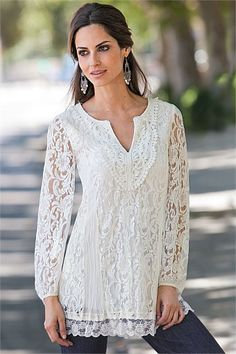 Together Crinkled Lace Tunic