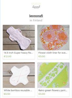Cloth pads at leonorafi www.etsy.com/shop/leonorafi