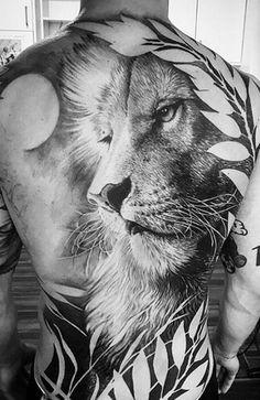 Eagle Back Tattoo, Lion Back Tattoo, Phoenix Back Tattoo, Tribal Back Tattoos, Cool Back Tattoos, Lion Head Tattoos, Mens Lion Tattoo, Boy Tattoos, Sleeve Tattoos
