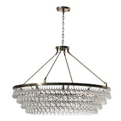 "Willa Arlo Interiors Jimmy 12-Light Crystal Chandelier Finish: Antique Brass, Size: 144"" H x 48"" W x 48"" D"