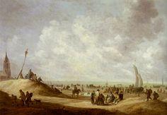 Jan van Goyen - Strandgezicht van Scheveningen, 1642