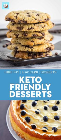 Here is a complete list of easy keto desserts which are not only healthy but taste great. Looking for delicious fat bombs, keto cheesecakes or keto cookies? Keto Desserts, Keto Friendly Desserts, Easy Desserts, Keto Snacks, Dessert Recipes, Dessert Ideas, Dessert Simple, Keto Dessert Easy, Sugar Free Treats
