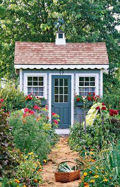 Backyard Storage Sheds, Backyard Sheds, Garden Sheds, Backyard Buildings, Diy Garden, Moon Garden, Outdoor Sheds, Garden Projects, Shed Design