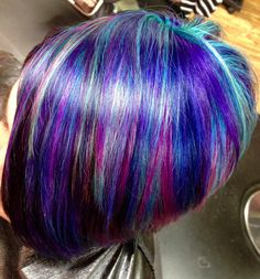 Kenra Color Creative work by Cassie Schroeder. #PurpleHair #BlueHair #TealHair