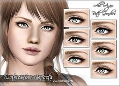 "Mod The Sims - ""Watercolour"" - Ultra Small Realistic Contacts"