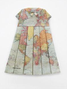 dress...made of maps