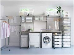 Laundry room cabinets get inspired by our laundry room storage ideas and designs. Allow us to help you create a functional laundry room with plenty of storage and wall cabinets that will keep your laundry. Laundry Room Shelves, Laundry Room Cabinets, Laundry Area, Laundry Storage, Small Laundry, Laundry Room Organization, Laundry Room Design, Ikea Laundry, Basement Laundry