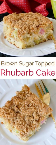 Savory magic cake with roasted peppers and tandoori - Clean Eating Snacks Rhubarb Desserts, Rhubarb Cake, Easy Desserts, Delicious Desserts, Rhubarb Cobbler, Gourmet Desserts, Sweet Desserts, Plated Desserts, Yummy Food
