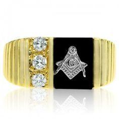 Theodore's Tri-Stone Masonic Ring