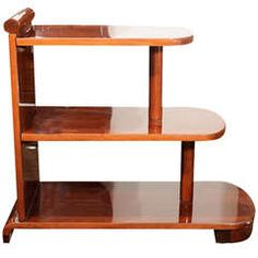 American Art Deco Streamline Three Tiered End Table