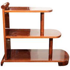 American Art Deco Streamline Three Tiered End Table