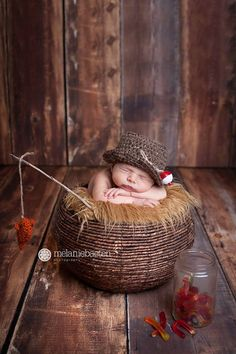 Newborn FISHING Hat with little fish - bucket hat - fishing set - photography Prop on Etsy, $32.00