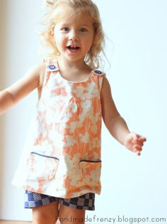 sew: Roly-Poly Pinafore Patchpocket Tutorial || Handmade Frenzy