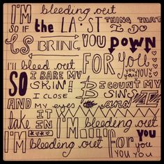 Bleeding Out → Imagine Dragons... Just love the way it's written