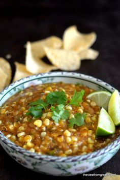 Fire Roasted Tomatillo and Corn Salsa 2