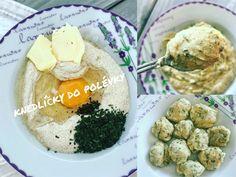Zdravé knedlíčky do polévky Dumplings, Eggs, Baked Potato, Grilling, Soup, Potatoes, Breakfast, Baking, Ethnic Recipes