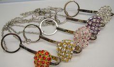 Crystal heart Purse Key finder Keychain/ Key tag/Key holder, just hanger outside of you loved handbag. never lost your loved key