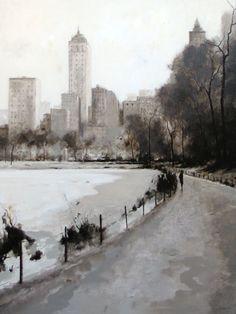 Park in Snow Geoffrey Johnson