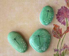 Painted Rocks Dragonflies @lilbit1339 for the your garden. Good project for you & the grandkids.