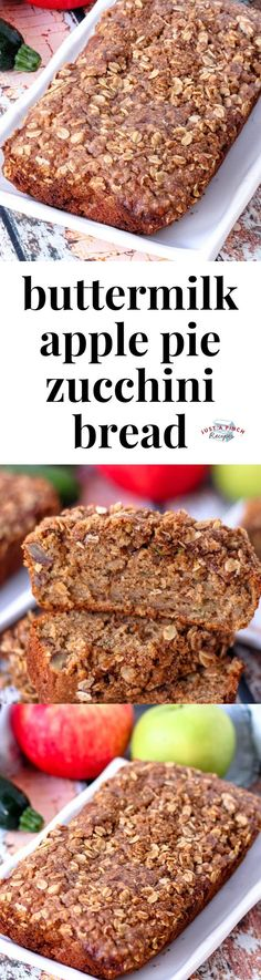 Five Approaches To Economize Transforming Your Kitchen Area Buttermilk Apple Pie Zucchini Bread Is Your New Favorite Zucchini Bread Recipe Moist With All The Spice From An Apple Pie, I Love This Twist On Traditional Zucchini Bread Dessert Bread, Dessert Recipes, Desserts, Summer Recipes, Fall Recipes, Zucchini Bread Recipes, Cheesy Recipes, Curry Recipes, Vegetarian Recipes
