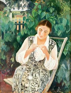 Arthur Percy - Woman Crocheting