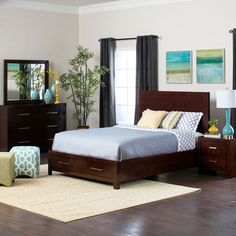 Ideal for an apartment or condo, the Metro Storage Bedroom Collection by Jerome's Furniture