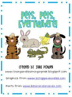 Free!! Pets unit! 31 pages!!!
