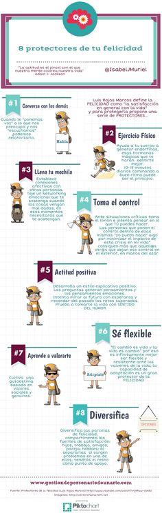Infografía: 8 protectores de tu felicidad