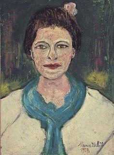 Maurice Utrillo, Portrait de Lucie Valore, Madame Utrillo