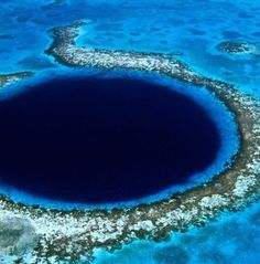 Blue hole, Belieze.  Remarkable.