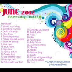 Of course waiting on June 2013 Photo challenge but would be awesome for the girls to do it all in 3 days at the beach