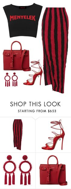 """Untitled #698"" by bombfashiondreamer on Polyvore featuring Juan Carlos Obando, Dsquared2, Oscar de la Renta and Yves Saint Laurent"