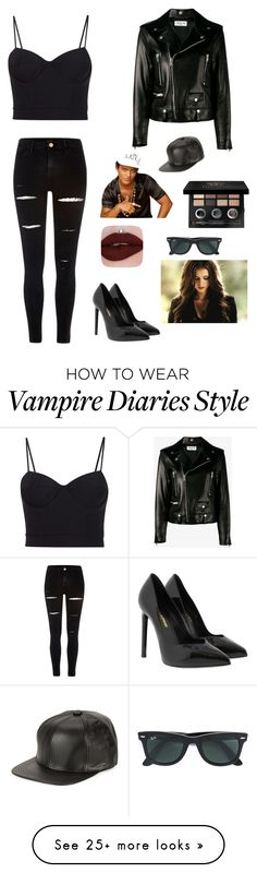 """""""24k Magic """" by francyrizzo on Polyvore featuring Yves Saint Laurent, Alexander Wang, River Island, Bobbi Brown Cosmetics, Ray-Ban and Marcus Adler"""