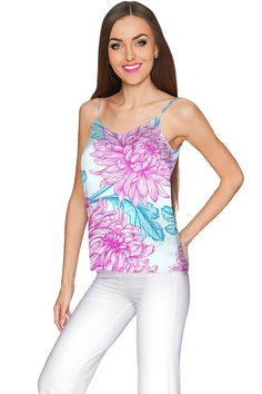 Floral Bliss Ella V-Neck Camisole - Women