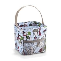 Snow daze  littles carry all caddy Fill with baked goods, candles,candy, small toys or girly stuff like lotions and such  $12. Get different print and use again in spring as Easter basket.  Www. Mythirtyone/jpace