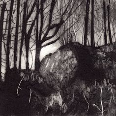Anita Reynolds-drypoint and carborundum-Day 2 card. Contemporary Printmaking, Dragon's Teeth, Drypoint Etching, Scratchboard, Colour Images, Geometric Art, Tree Art, Light In The Dark, Outline