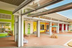 Mother Duck Childcare Centre, Brisbane. Completed in 2014, the project boasts a plentitude of natural ventilation and light, along with the use of recycled products.