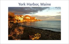 York Harbor at Sunset, Maine Photo Poster Collection #314