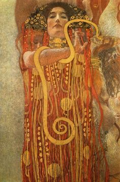 The 'Hygeia' canvas art piece by Gustav Klimt, from the Museum Masters collection, will add beauty to your home with its rich colors. This is a reprint on canvas to create a museum-like piece of artwo