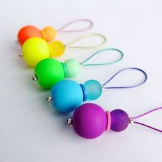 Brighten up your knitting with these colorful stitch markers, they make the perfect gift for s knitting obsessed friend.