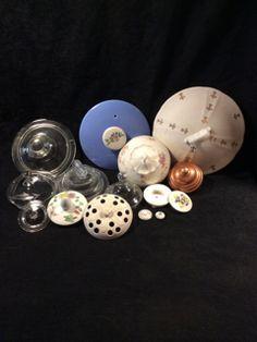 MISC GLASS, CERAMIC, AND COPPER LIDS