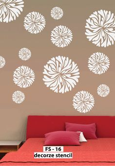 Easy Way Decorative Flower Stencil FS 16 Reusable DIY Wall Decor