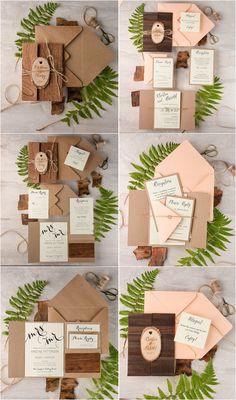 Eco Burlap Rustic Country Laser cut Wood Wedding Invitation Suite #wedding #rusticwedding #weddingideas #weddingcards #weddinginvitations