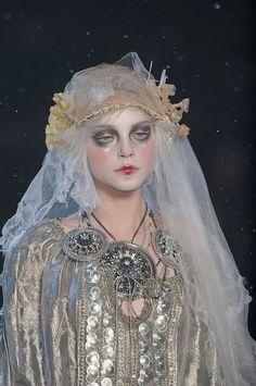 John Galliano fashion + Pat Mcgrath makeup design